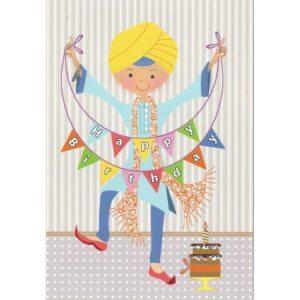 Happy Birthday Card - Singh Bunting