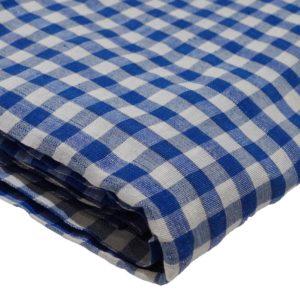Gingham Blue and White Parna (Turban)