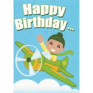 Happy Birthday Card - Singh Aeroplane