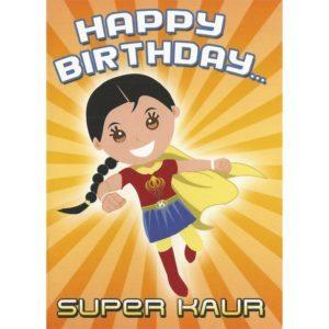 Happy Birthday Card - Super Kaur
